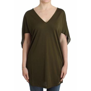 Galliano Green shortsleeved blouse top