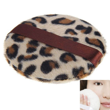 Leopard Grain Make-up Powder Puff Sponge for Facial Foundation Cosmetic