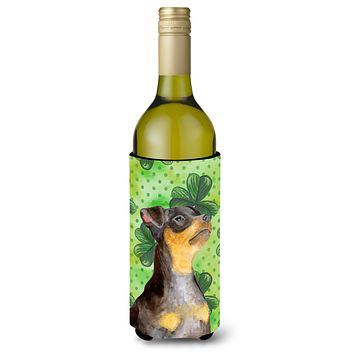 Miniature Pinscher #2 St Patrick's Wine Bottle Beverge Insulator Hugger BB9898LITERK
