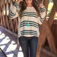 Creative Confusion Sweater, Ivory