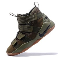 Best Deal Online Nike LeBron Soldier 11 Army Green Men Basketball Sneakers Sports Shoes