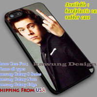 Flip Finger | Harry Styles | One Direction iPhone 6s 6 6s+ 6plus Cases Samsung Galaxy s5 s6 Edge+ NOTE 5 4 3 #music #1d dl2