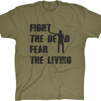 Fight The Dead Walking Dead Men's Cotton T-Shirt