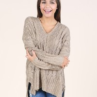 Altar'd State Cuddle Up Cable Knit Sweater | Altar'd State