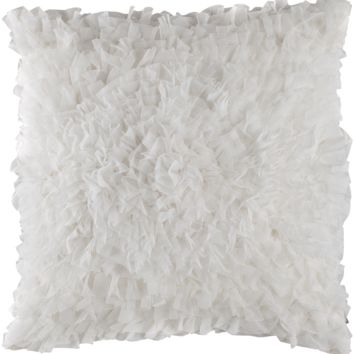 Coco White Sheer Square Pillow by Lili Alessandra