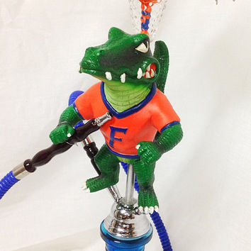 "Top Shelf Hookah Custom Florida Gator Hookah ""OVER THE TOP""  Hand Made Quality You Deserve"