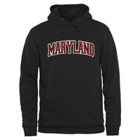 Maryland Terrapins Arch Name Pullover Hoodie - Black