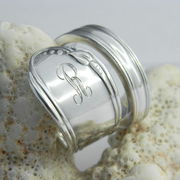 Personalized Spoon Ring  Silver Spoon Ring by CaliforniaSpoonRings