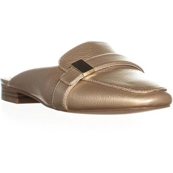 A35 Aidaa Open Heel Loafers, Light Gold, 6 US