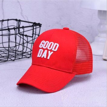 Trendy Winter Jacket New Fashion Embroidery Letter Children's Trucker Hat Breathable Mesh Baseball Cap For Kids Boy's Girls Snapback Hat AT_92_12