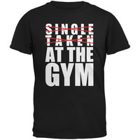 Training Single Taken At The Gym Black Adult T-Shirt
