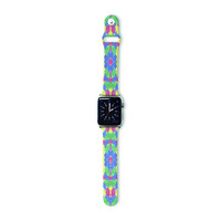 "Empire Ruhl ""Energy Abstract"" Multicolor Pattern Apple Watch Strap"