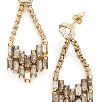 State of the Art Deco Earrings in Gold | Mod Retro Vintage Earrings | ModCloth.com