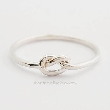 Knot Love Cute Ring New .925 Sterling Silver Band Sizes 1-16