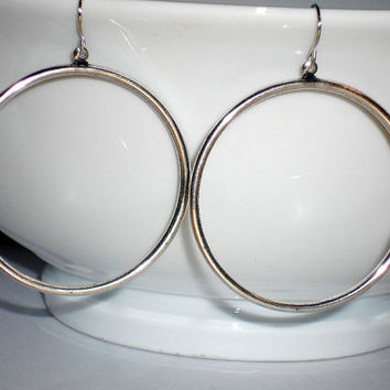 Silver hoops dangle hoop earrings under 20 circle earrings