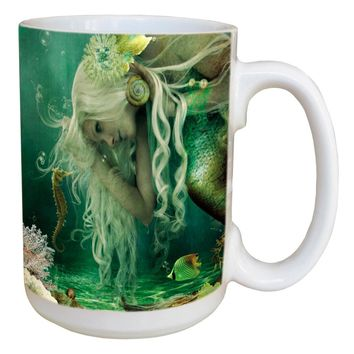 Mermaid Secret Mug - Large 15 oz Ceramic Coffee Mug
