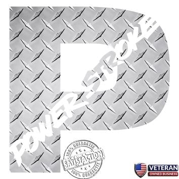 Powerstroke P Turbo Diesel Diamond Plate vinyl sticker decal fits: Ford