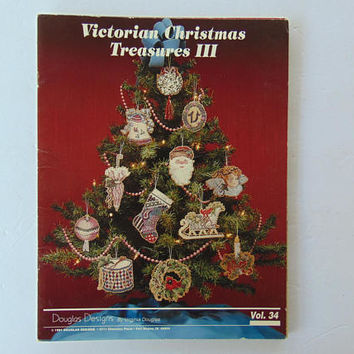 Victorian Christmas Treasures III Douglas Designs Cross stitch Needlepoint Patterns Vol 34