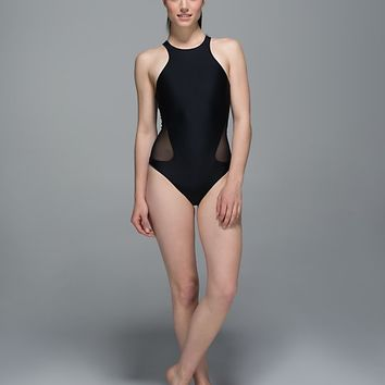 water: salty swim front racer | women's swim | lululemon athletica