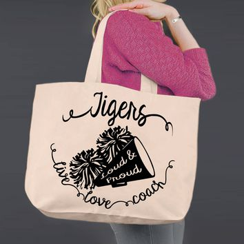 Cheer Coach   Personalized Canvas Tote Bag