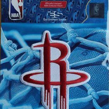 NBA Patch Houston Rockets Team Logo Sew or Iron On Official Licensed