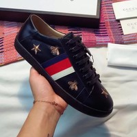 Gucci:Trending Fashion Casual Stars Sports Shoes Stars Black G-ALS-XZ