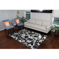 5056 Gray Contemporary Area Rugs