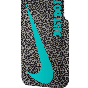 Best 3D Full Wrap Phone Case - Hard (PC) Cover with just do it leopard silver Design