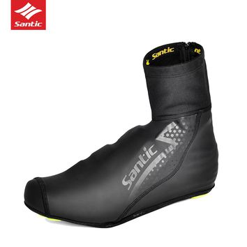 Santic Winter New Design Men Cycling Shoes Cover Warm Windproof MTB Road Bike Bicycle Overshoes Bicycle Shoes Cover Protector