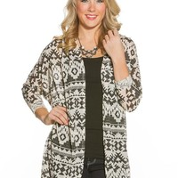 Eyeshadow Aztec Diamond Cardigan