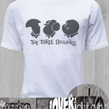 Three Stooges TShirt Tee Shirts Black and White For Men and Women Unisex Size