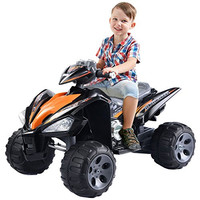 Kids Ride On ATV Quad 4 Wheeler Electric Toy Car 12V Battery Power Black