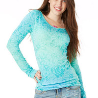 Laura Print Thumbhole Long-Sleeve