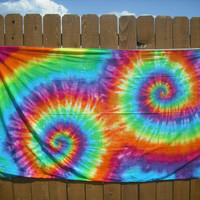 Double spiral Tie Dye Sarong or Tapestry