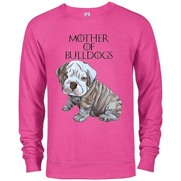 English Bulldog Sweatshirt, Sweater For Women, Girls - Mother of Bulldogs