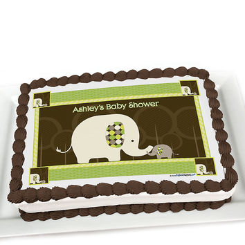 Baby Shower Cake Toppers - Baby Elephant