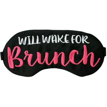 WILL WAKE FOR BRUNCH SLEEP MASK