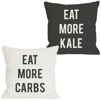 Eat More Kale / Carbs Pillow