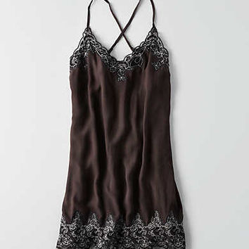 AEO Corded Lace Slip Dress , Black