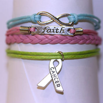 YOUR ROAD~ BRCA Bracelet, Cancer Bracelet, Cancer Awareness, brca1 brca2, Breast Ovarian Pancreatic Cancer, Cancer Support, ilovecheesygrits
