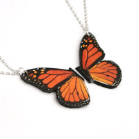 Monarch Butterfly Friendship Necklace Danaus by PeachesandPebbles
