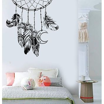 Vinyl Wall Decal Dreamcatcher Feathers Bedroom Design Nursery Stickers Unique Gift (811ig)