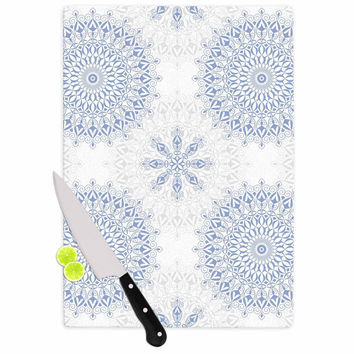 "Julia Grifol ""Mandalas In Blue"" Vector Geometric Cutting Board"