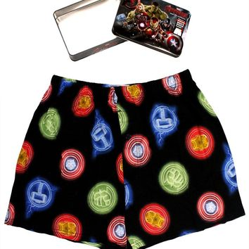 Avengers Mens Boxer in Collectors Tin Shields