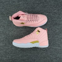 Air Jordan 12 Retro Aj 12 Pink/white Women Basketball Shoe | Best Deal Online