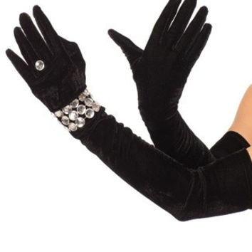 Velvet Opera Length Gloves