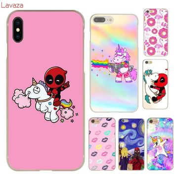 Deadpool Dead pool Taco Lavaza  Unicorns Hard Phone Case for Apple iPhone 6 6s 7 8 Plus 4 4S 5 5S SE 5C Cover for iPhone XS Max XR Cases AT_70_6