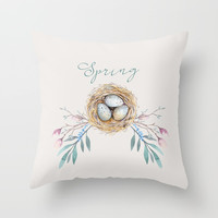 spring nest Art Print by Sylvia Cook Photography