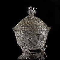Vintage Hofbauer The Byrdes Collection Candy Dish With Lid