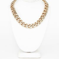 Missguided - Gima Heavyweight Chain Necklace In Gold